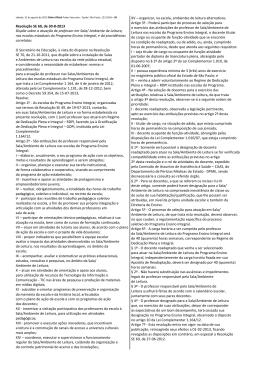 Programa Ensino Integral - Sala de Leitura - Resolução SE 60