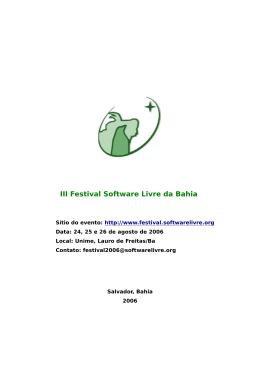 III Festival Software Livre da Bahia