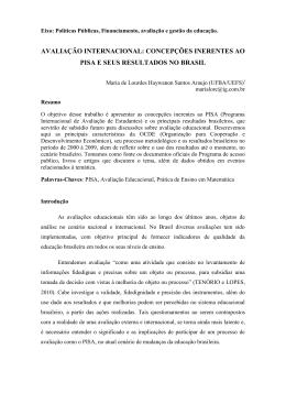 concepções inerentes ao pisa e seus resultados no brasil