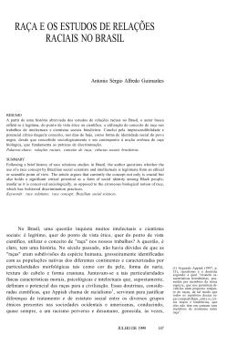 raça e os estudos de relações raciais no brasil