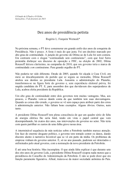 Dez anos de presidência petista
