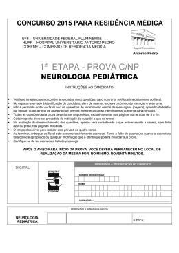 Neurologia Pediátrica - Uff - Universidade Federal Fluminense