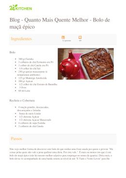 Blog - Quanto Mais Quente Melhor - Bolo de maçã épico