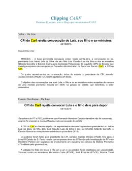 Clipping CARF 08102015 - Conselho Administrativo de Recursos