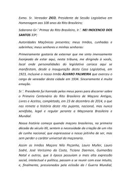 100 anos do Rito Brasileiro - Supremo Conclave do Brasil Rito