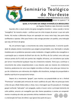 Nº 16 - Outubro de 2014 - Seminário Teológico do Nordeste