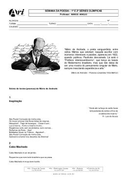 Seleta de poemas - Mário de Andrade