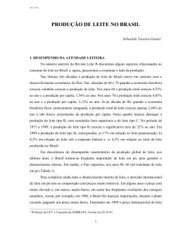 PRODUÇÃO DE LEITE NO BRASIL (3-10-91)