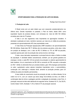 Artigo. Oportunidade para a Criação de Leite no Brasil