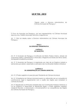 Lei Nº 935 - estrutura administrativa da câmara