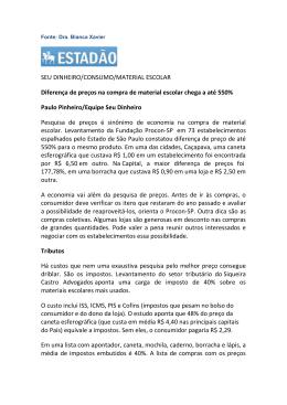 SEU DINHEIRO/CONSUMO/MATERIAL ESCOLAR Diferença de
