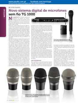 Novo sistema digital de microfones sem fio TG 1000