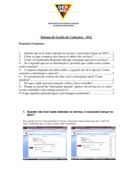 DÚVIDAS sobre o Sistema de Gestão de Contratos - SGC?