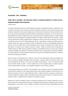 Humboldt 146 – Realidad Calar não é remédio. Um - Goethe