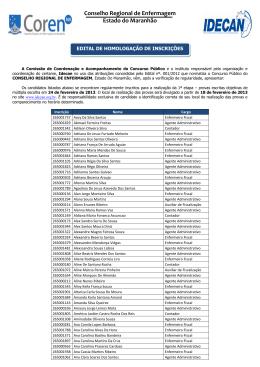 Conselho Regional de Enfermagem Estado do Maranhão