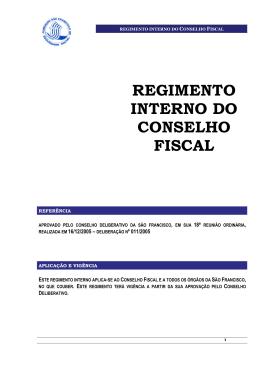 regimento interno do conselho fiscal