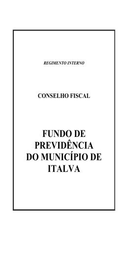 REGIMENTO INTERNO Conselho Fiscal