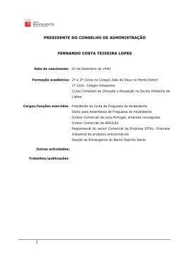 PRESIDENTE DO CONSELHO DE ADMINISTRAÇÃO FERNANDO