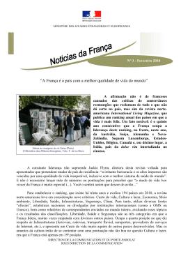 """""""A França é o país com a melhor qualidade de vida do mundo"""""""