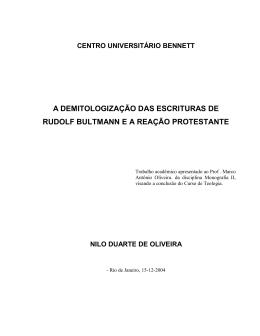 Rudolf Bultmann - Igreja Metodista de Vila Isabel
