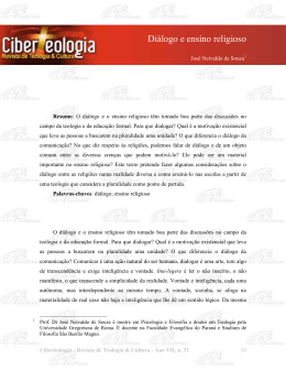 Diálogo e ensino religioso - Ciberteologia