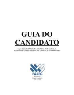 Guia do Candidato