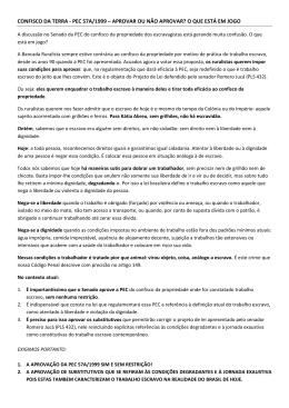 CONFISCO DA TERRA - PEC 57A
