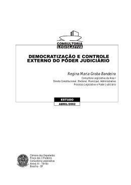 democratização e controle externo do poder judiciário