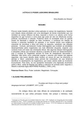 A Ética e o Poder Judiciário Brasileiro