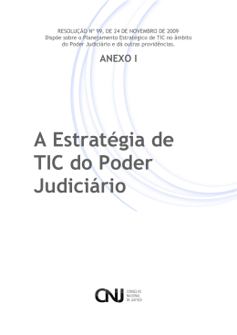 A Estratégia de TIC do Poder Judiciário