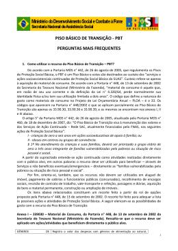 PISO BÁSICO DE TRANSIÇÃO - PBT - COGEMAS-PR
