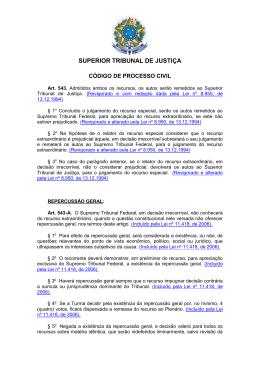 Legislação CPC, STF e STJ
