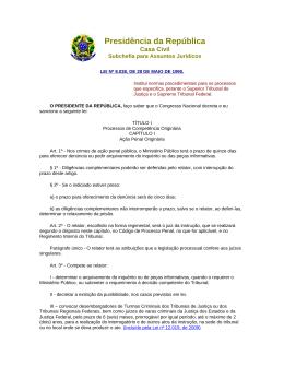 Presidência da República - Ministério Público da Paraíba