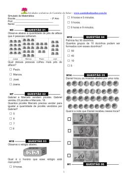 Baixar simulado de matemática para o terceiro ano em PDF