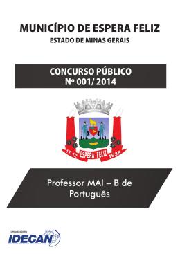 PROFESSOR MAI - B DE PORTUGUÊS