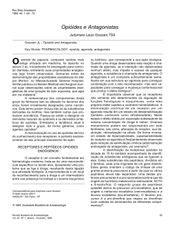 Opióides e Antagonistas