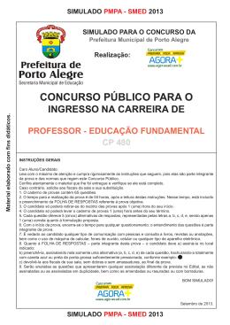 Simulado PROFESSOR DE ENSINO