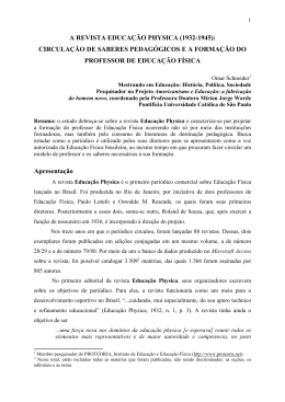 a revista educação physica (1932-1945): circulação de saberes