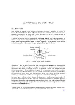 22. VÁLVULAS DE CONTROLO