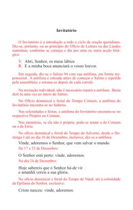 Invitatório e Ofício de Leitura