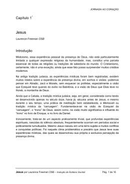 Capítulo 1* Introdução - Comunidade Mundial para Meditação Cristã