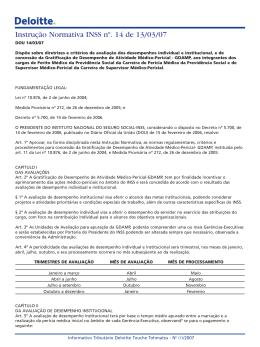Instrução Normativa Pres. INSS nº 14