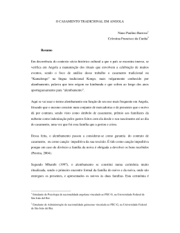 O CASAMENTO TRADICIONAL EM ANGOLA Nuno Paulino