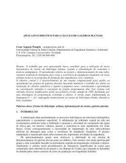 APLICATIVO DIDÁTICO PARA CÁLCULO DE GALERIAS