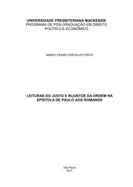 Mario Cesar Carvalho Pinto - Universidade Presbiteriana