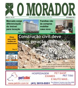 Construção civil deve rever geração de resíduos Mercado