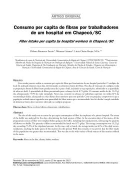 Consumo per capita de fibras por trabalhadores de
