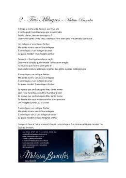 Letra - Melissa Barcelos