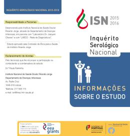 folheto informativo - Instituto Nacional de Saúde Dr. Ricardo Jorge