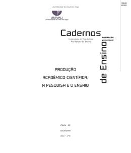 Produção Acadêmico-Científica: A Pesquisa e o Ensaio